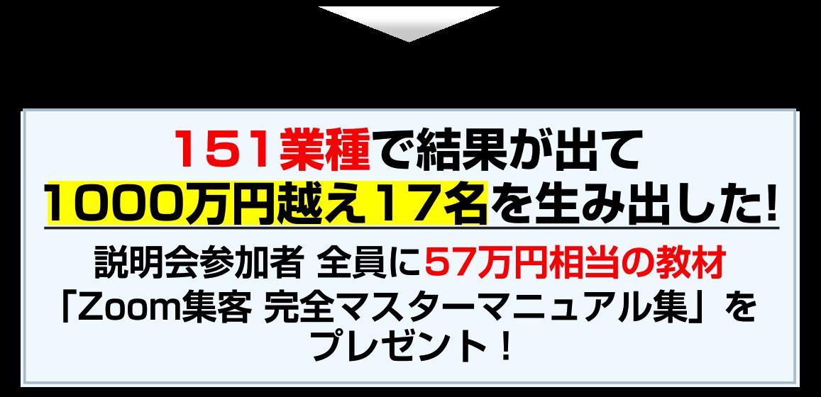 57万円相当の教材 「Zoom集客 完全マスターマニュアル集」をプレゼント!